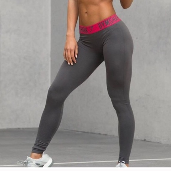 8920687e55f71 Gymshark Pants | Charcoal Gray Cranberry Pink Fit Leggings | Poshmark